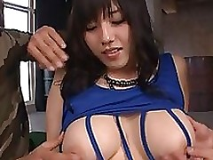 azusa nagasawa japanese beauty acquires creampie group sex threesome tits
