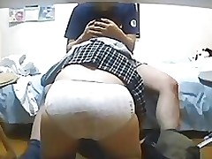 spycam schoolgirl takes sex cream chop amateur asian ass brunette