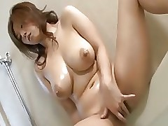 elegant japanese whore naho oils appealing fingers wavy bawdy cleft