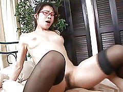 mizuki ogawa cock stuffed paramour phallus sucking hardcore action hairy