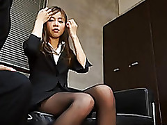 insignificant japanese office babe accepts mouthful spunk flow cumshot fisting