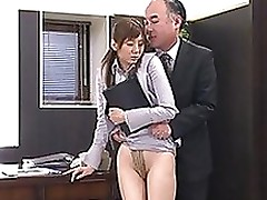 yuma asami engages appealing office fucking guidance bondage cumshot hardcore