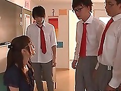 minami kojima nasty japanese milf glasses bukkake blowjob handjob foursome