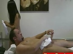 overweight eastern tugging masseuse tugjob cumshot handjob chubby asian asiansex