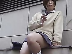 japanese school doll pubic hair asian fetish outdoor panties public