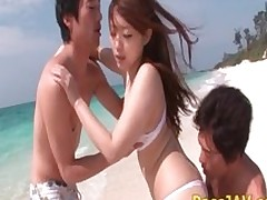 japanese outdoor mmf fucking threesome group asian public
