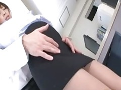 office lady getting pantoons cunt rubbed boss asian work japanese
