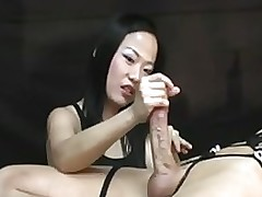 femdom cock masturbating niya yu sperm stream peak pleasure hand