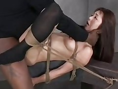 bound japanese darling bonked asian bdsm interracial sex toys